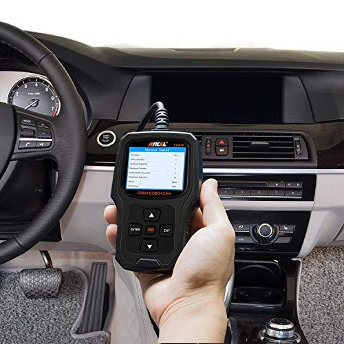 ANCEL EU410 Lector de código de fallas para vehículos El escáner de protocolo OBD2 analiza la luz de diagnóstico del motor para el sistema de motor de automóvil OBD II con preparación I / M
