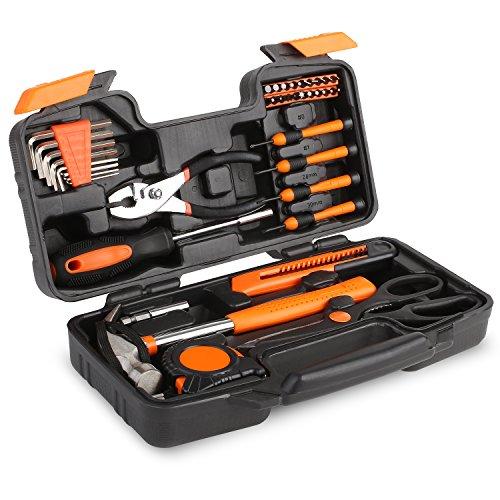 Fixkit Mallette d'outils multifonction pour les travaux de la maison, 39 pièces