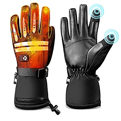 EEIEER Electric Heated Gloves for Women Men, Hand Warmers with Rechargeable Batteries Heating Warm Gloves,Indoor Outdoor Winter Heat Gloves for Climbing Hiking Cycling Skiing Biking Motorcycle (L)