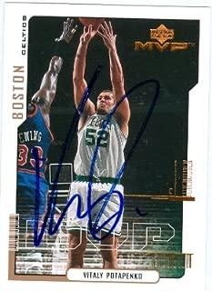 Autograph Warehouse 44853 Vitaly Potapenko Autographed Basketball Card Boston Celtics 2000 Upper Deck Mvp No .12