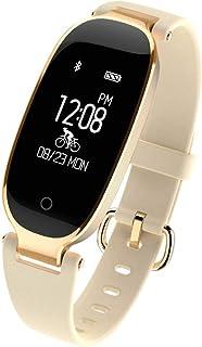 DUTUI Sports Watch, Multi-Sports Mode Calorie Consumption Watch Waterproof Bluetooth Connected Watch, Beige