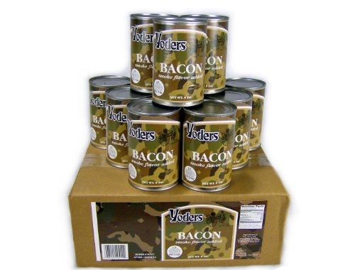 Yoders Bacon Full Case of 12 Cans