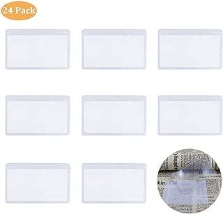Fresnel Lens, PVC Plastic Magnifier, 3X Wallet Pocket Lens, Mini Magnifying Hand Lens Credit Card Size for Reading IRCHLYN 24 Pcs (8.5 x 5.5 cm)