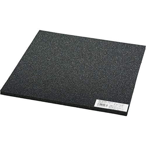 光 低反発ウレタン 黒 300×300×10�o テープ付 KTHU-3012T