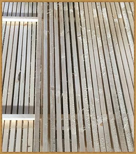 Eigenmarke 10 Stück Stapelleisten Bastelholz Vierkantleisten Holzleisten Abdeckleisten (ca. 20x20 mm, Naturholz)