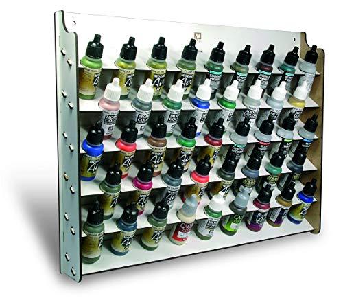 Vallejo 026010 Wandregal für Modellbaufarben für 17 ml, 43 Fläschchen