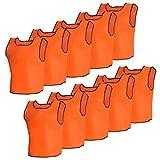 vidaXL 10x Petos de Entrenamiento Deportivos Naranja Adultos Baloncesto Futbol
