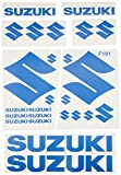 Ecoshirt N5-NRH2-IX2Z Pegatinas Suzuki F191 Stickers Aufkleber Decals Adesivi Moto Bike, Azul