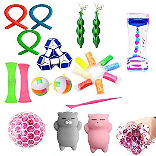 Sensory Fidget Toy Set, Zappelspielzeug zum Stress- und Angstabbau, Zappelspielzeug für Kinder und Erwachsene, spezielle Spielzeugsets für Geburtstagsfeiern