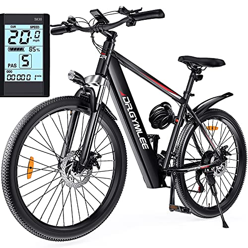 DR.GYMlee 26' Electric Mountain Bike with Fast Charging,350W Brushless Motor,36V/10.4Ah Build-in Lithium-Ion Battery,21-Speed - SH26