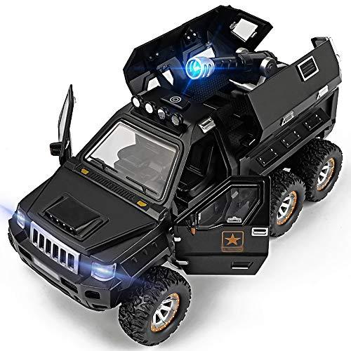 Xolye Große Legierung Off-Road-Fahrzeug-Modell-Modell-Kinder-E-Lernspielzeug-Auto-Geschenk-Boy-Metall-Anti-Herbst-Klang und leichte Rückzug aus explosionsgeschütztes Auto-Spielzeug