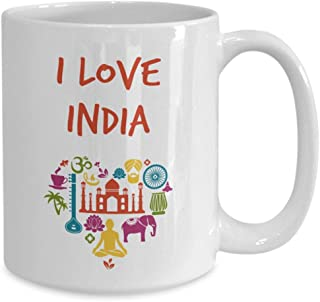 I love india mug funny tea hot cocoa coffee cup novelty birthday christmas anniversary