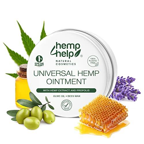 Universal Hanf-SALBE von HEMP 4 HELP Bestseller mit BIO-HANF, Bio Hanföl und unraffiniert PROPOLIS | 50 ml | für die intensive Haut-Pflege als Körper Wund- Heil Salbe