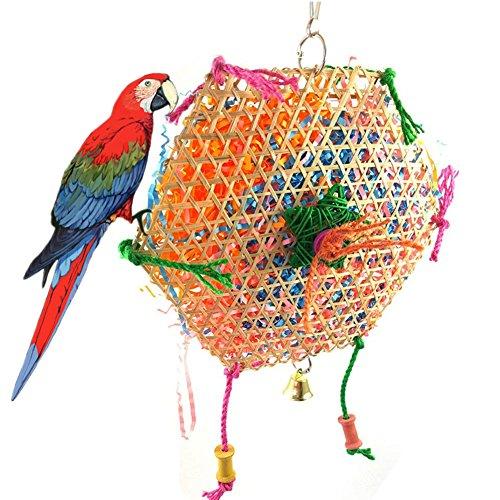 Toruiwa Jouet d'Oiseaux Morsure Naturel pour Perroquets, Perruches, Aras, Perruches