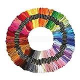 KingSaid 100 unidades de mezcla de colores para punto de cruz, madejas de punto de cruz, hilo de algodón, hilo de bordado, para punto de cruz