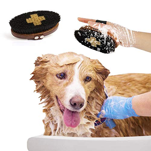 Gaolin Cepillo De Baño, Herramienta De Limpieza Suave Y Cómoda Antideslizante para Eliminar El Pelo Flotante, Cepillo De Peinar De Madera para Mascotas.