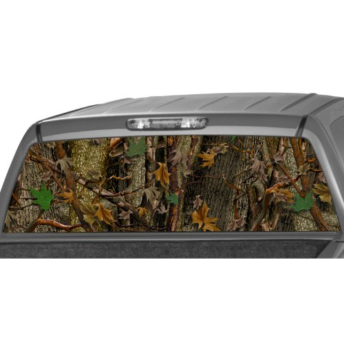 MotorINK CAMO Oak Ambush Rear Window Graphic Decal Tint Sticker Truck SUV ute Camouflage