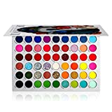 DE'LANCI Big Colorful Eyeshadow Palette Professional 54 Color Board Eye Shadow Bright Neon Glitter Matte Shimmer Makeup Pallet Highly Pigmented Powder Eye Shadow