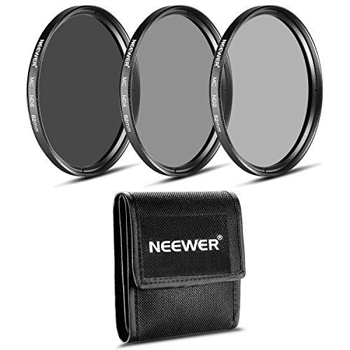 Neewer® 62MM Fotografie Filter-Set (ND2 ND4 ND8) für die PENTAX DSLR-Kameras mit einem 18-135mm F3.5-5.6 AL Zoomobjektiv und SONY Alpha mit einem 18-135mm f / 3.5-5.6 Zoom-Objektiv.