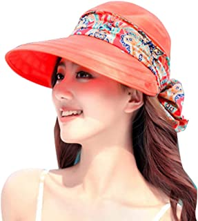 Women Wide Brim Cap UV Protection Sun Hats Visor Hats Multiple Wearing Methods