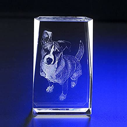 "Personalized Engraved Photo Crystal Rectangle 3"" X 2"" A00202"