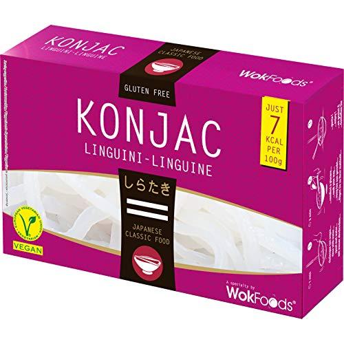 WOK FOODS Shirataki Konjac Linguini, 200 g, 12 pezzi