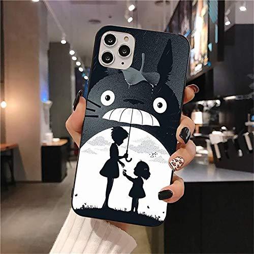 QY-Youth Totoro Teléfono Funda para iPhone 12 Pro MAX Mini 11 Pro XS MAX 8 7 6 6S Plus X 5S SE 2020 XR Funda,B,iPhone 7/8 Plus
