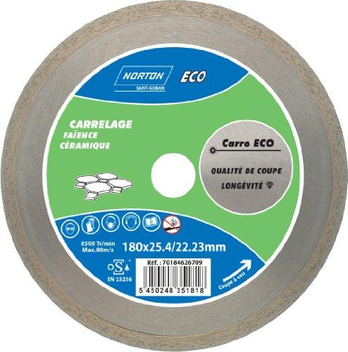 Norton Carro Eco Diamant-slijpschijf voor tegels, waterbestendig, 180 x 25,4 mm