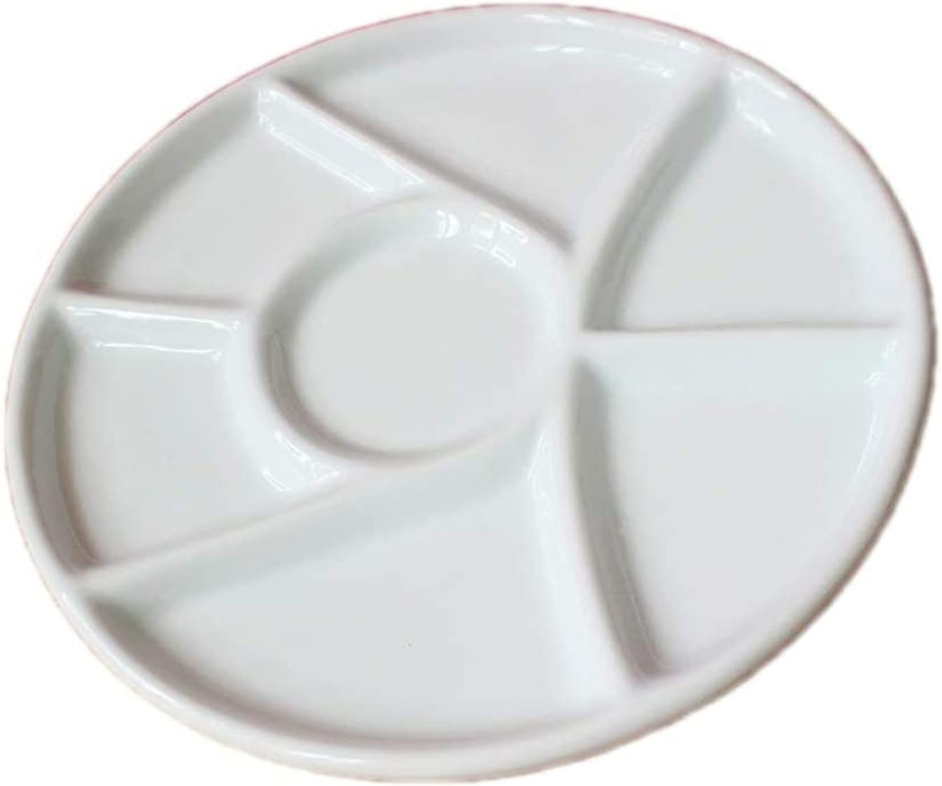 Gemerglity 6 Wells Ceramic Artist Paint Mail order Porcelain All items in the store Tray Watercolo