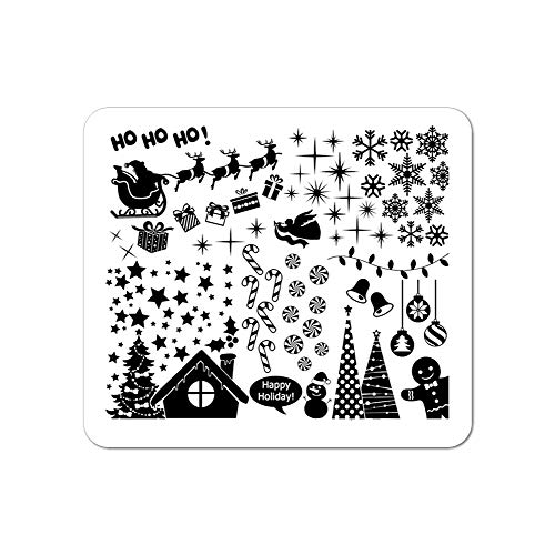 Winstonia Christmas Nail Art Stamping Image Plate Festive Winter Decoration - Have a Merry Christmas!
