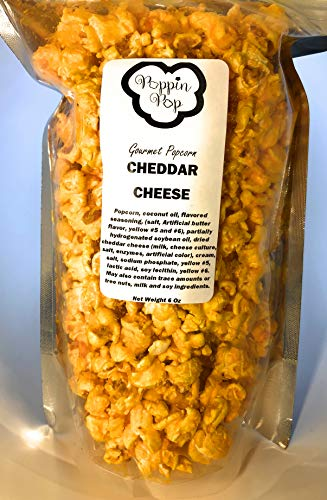 Poppin Pop Cheddar Cheese Popcorn, Gourmet Cheese Popcorn, Rich Cheese Flavor, Cheese Popcorn Snack