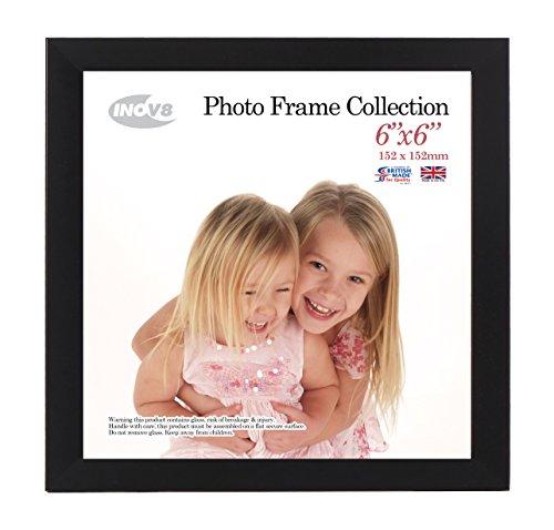 Innov8 fotolijst, 15 x 15 cm, satijnzwart, voor foto's van 6 x 6 cm