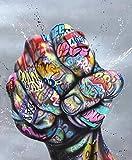 ZXYFBH Poster Bilder Moderne Graffiti-Kunst streben Faust