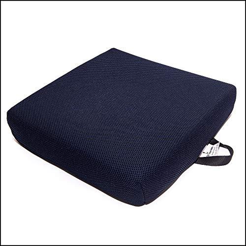 ORTONES | Viskoelastisches Anti-Dekubitus-Sitzkissen | Mit atmungsaktivem Bezug aus 3D-Gewebe | Ergonomisches Sitzkissen für Rollstuhl,Bürostuhl | 50 kg/m³ Dichte