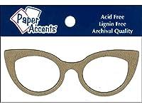 Chip Shape 8pc Eyeglasses Natural
