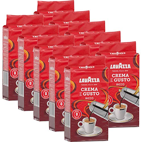 Lavazza Kaffee Crema e Gusto Ricco, gemahlener Bohnenkaffee (10 x 250g)