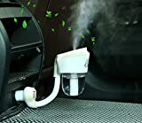 RTIE Car Air Purifier 2 Ultrasonic Vaporizer Humidifier Diffuser Econoled Filter, USB in Car Scent Humidifier Purifier with White Color