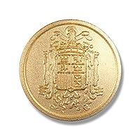 メタルボタン 平型裏足付きボタン 在庫限りのためお買得価格 1個から対応 スーツ ブレザー ジャケット 袖ボタン用 15mm ゴールドカラー B11