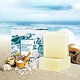 AJUMKER Meersalz Seife Hautpflege Seife Handgemachte Ziegenmilch Reiniger Gesichtsreparatur Pickel...