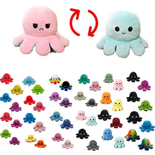Uncle's shop Flip Plush Oktopus Toy doll,Oktopus Plüsch Wenden Kuscheltier Groß Kinderspielzeug Geschenk Plüschtiere niedlich kleine Octopus Toy Doppelseitiges Flip-Plüschtier Süße Wendepuppe