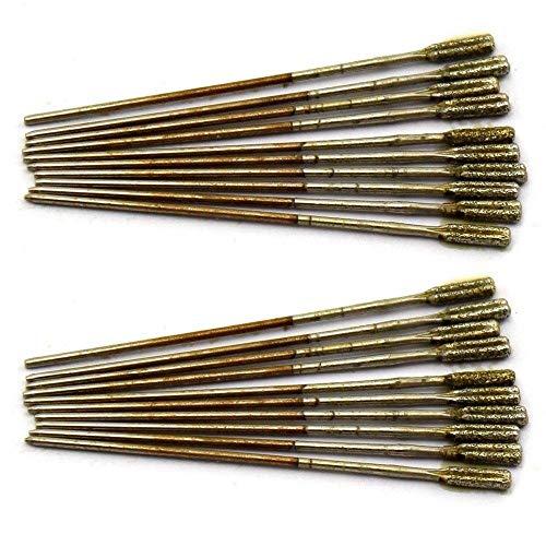 Bohrersets Kleine Edelsteinbohrer 1-2,2 mm Lapidar-Werkzeuge, Grate schnitzen Packung mit 20 Stk. -2,0 mm_20 Stk