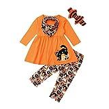 Conjunto de ropa para niños pequeños y niñas de Halloween