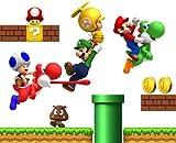 Autocollant Mural Super Mario Repositionnable Chambre Garçon Déco