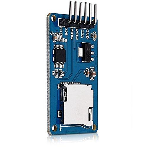 DaoRier Micro SD SDHC TF Tarjeta Módulo SPI Reader Memory Card Shield, 1 Pieza