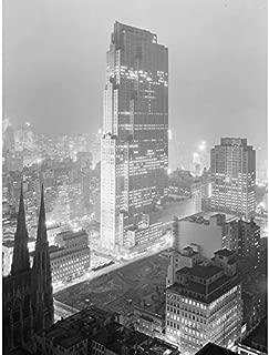 New York City Rockefeller Center Vintage Photo Art Print Canvas Premium Wall Decor Poster Mural