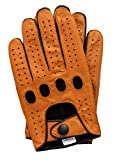 Riparo Genuine Leather Reverse Stitched Full-Finger Driving Gloves (XX-Small,...