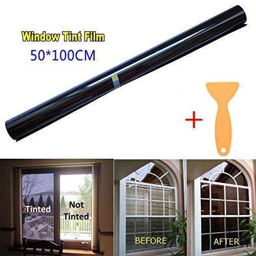 Rollo de película para tintar vidrios de Coche Elegantamazing 50 cm x 3 m, 20% VLT Black Pro