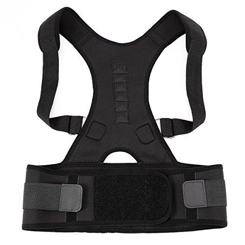 Suporte ortopédico ajustável para as costas SUPVOX para alívio da dor no ombro e nas costas com seis contas magnéticas – Tamanho GG