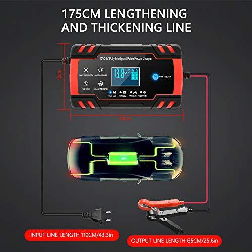Directtyteam Car Battery Charger Lntelligent 8A 12V/4A 24V car battery charger Charges, Maintains and Reconditions Car…