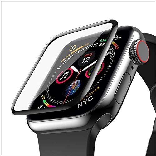 LULLABY Iwatch Series 4 5 6 44MM Latest Generation Curvy Boder Glass Membran PMMA Film Clear With Built In 9H Hardness Tempered Glass Screen Protector For Iwatch 44MM